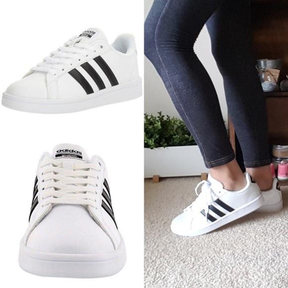 new product 5a72d 05611 Adidas Womens Cloudfoam Advantage Neo - White